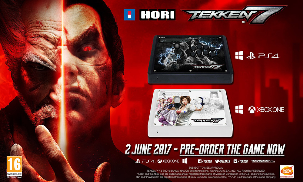 Hori Real Arcade Pro Tekken 7 Edition Fight Stick For Ps4 Ps3 And Xb1 Available For Pre Order Tekkengamer